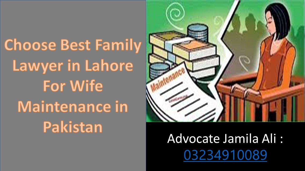 Short Process For Know The Opinion of Maintenance of Wife through Lawyers in Pakistan